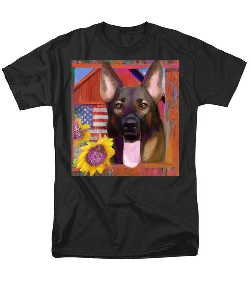 Happy Dog Men's T-Shirt  (Regular Fit) by Julianne Ososke