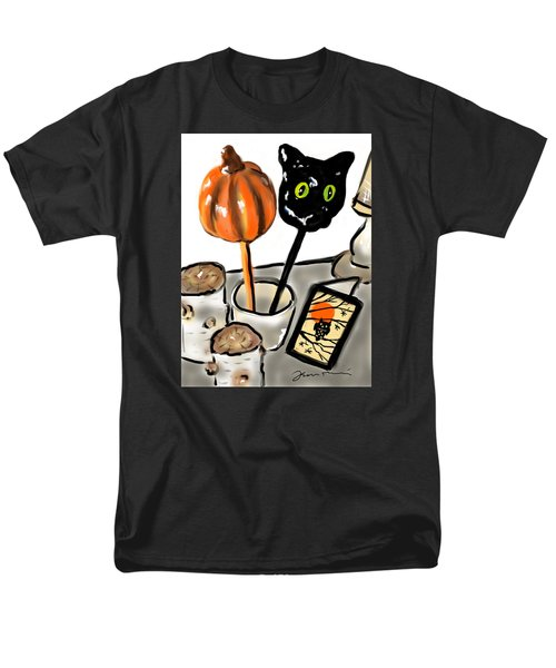 Men's T-Shirt  (Regular Fit) featuring the painting Happy Halloween by Jean Pacheco Ravinski