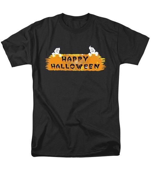 Happy Halloween - T-shirt Men's T-Shirt  (Regular Fit) by Robert J Sadler