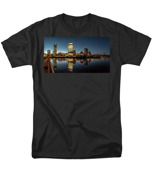 Men's T-Shirt  (Regular Fit) featuring the photograph Harbor House View by Randy Scherkenbach