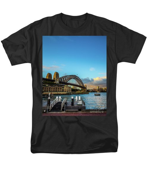 Men's T-Shirt  (Regular Fit) featuring the photograph Harbour Sky by Perry Webster