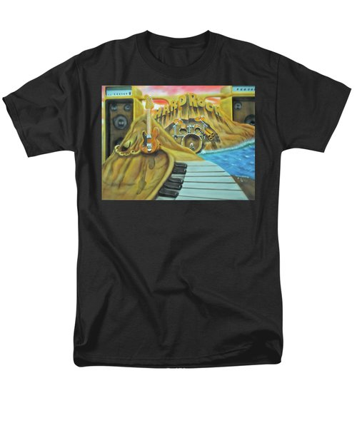 Men's T-Shirt  (Regular Fit) featuring the painting Hard Rock by Thomas J Herring