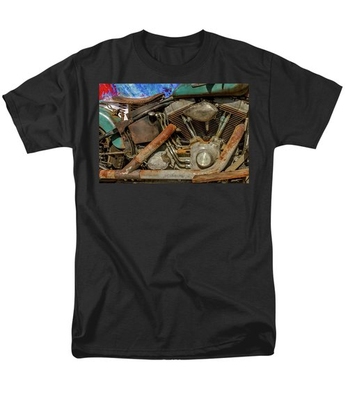 Men's T-Shirt  (Regular Fit) featuring the photograph Harley Davidson - An American Icon by Bill Gallagher