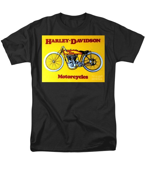 Harley - Davidson  Poster Men's T-Shirt  (Regular Fit) by Pg Reproductions