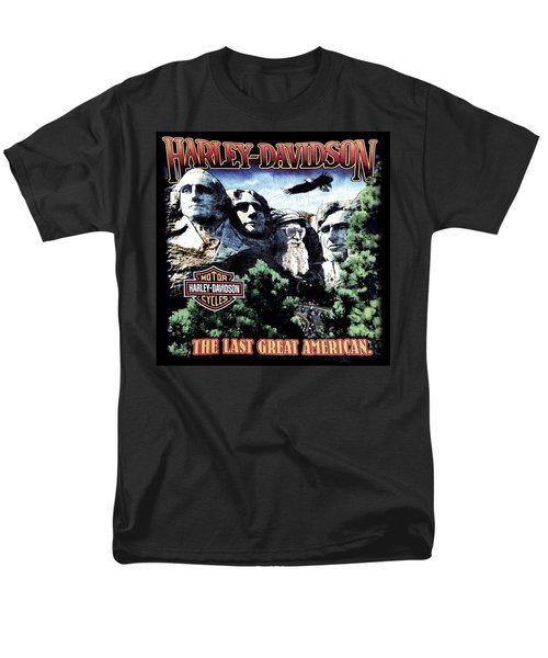 Harley Davidson The Last Great American Men's T-Shirt  (Regular Fit) by Gina Dsgn