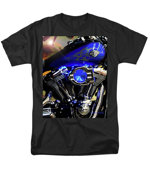 Harleys Twins Men's T-Shirt  (Regular Fit) by DigiArt Diaries by Vicky B Fuller
