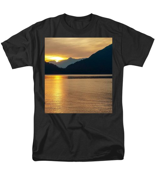 Harrison Lake, British Columbia Men's T-Shirt  (Regular Fit) by Heather Vopni