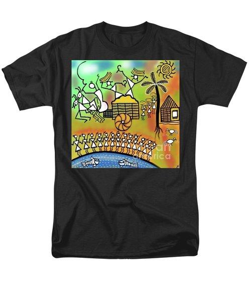 Men's T-Shirt  (Regular Fit) featuring the digital art Harvest by Latha Gokuldas Panicker