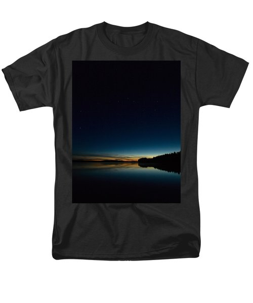 Men's T-Shirt  (Regular Fit) featuring the photograph Haukkajarvi By Night With Ursa Major 2 by Jouko Lehto