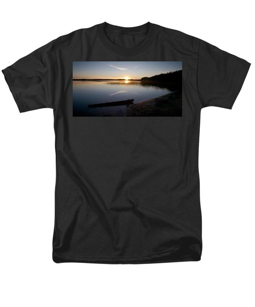 Men's T-Shirt  (Regular Fit) featuring the photograph Haukkajarvi Evening by Jouko Lehto