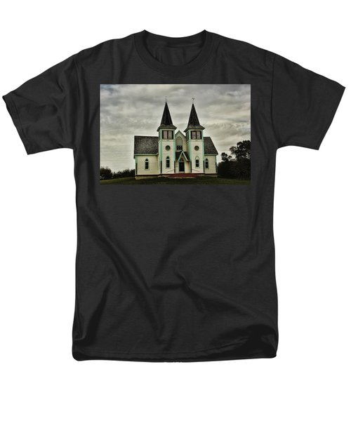Men's T-Shirt  (Regular Fit) featuring the photograph Haunted Kipling Church by Ryan Crouse