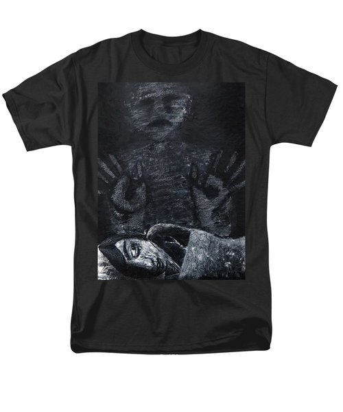 Men's T-Shirt  (Regular Fit) featuring the painting Haunted by Teresa Wing