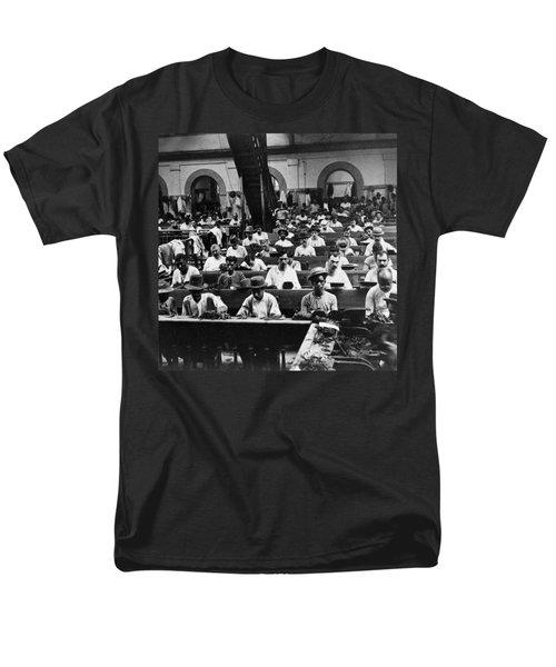 Havana Cuba - Cigars Being Rolled - C 1903 Men's T-Shirt  (Regular Fit) by International  Images