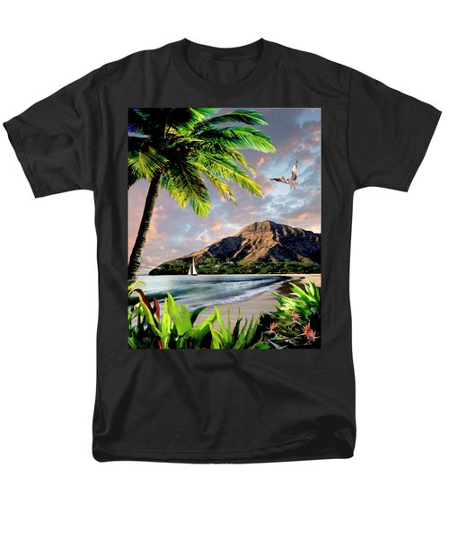 Hawaii Sunset Men's T-Shirt  (Regular Fit) by Ron Chambers