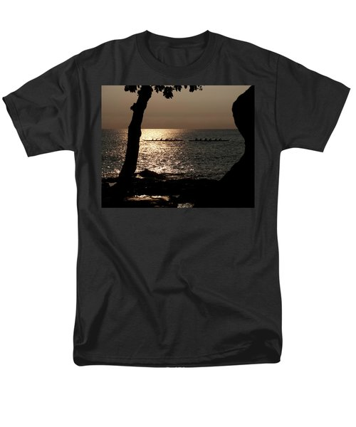 Hawaiian Dugout Canoe Race At Sunset Men's T-Shirt  (Regular Fit) by Michael Bessler
