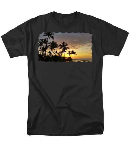 Hawaiian Sunset Design Men's T-Shirt  (Regular Fit) by Pamela Walton