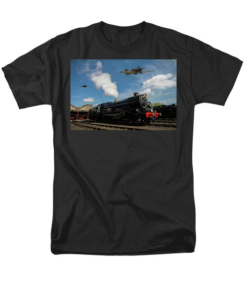 Hawker Hurricanes Beating Up A Goods Yard Men's T-Shirt  (Regular Fit) by Ken Brannen
