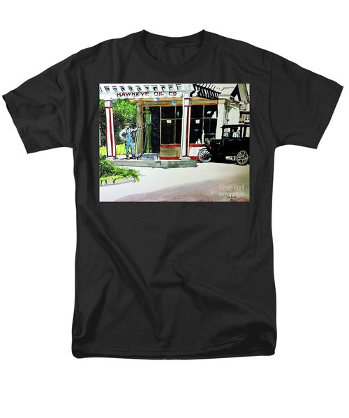Men's T-Shirt  (Regular Fit) featuring the painting Hawkeye Oil Co by Tom Riggs