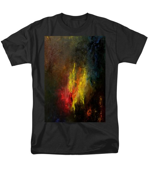 Men's T-Shirt  (Regular Fit) featuring the painting Heart Of Art by Rushan Ruzaick