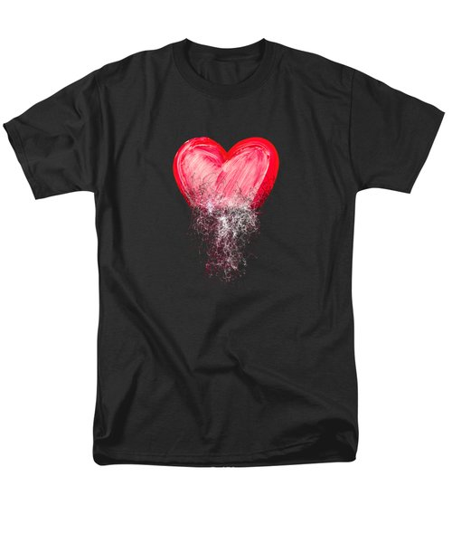 Heart Painted From Tangle Of Scribbles Men's T-Shirt  (Regular Fit) by Michal Boubin