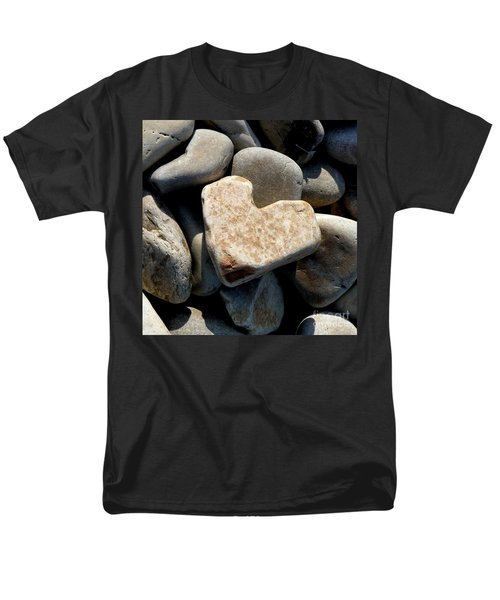 Heart Stone Men's T-Shirt  (Regular Fit) by Lainie Wrightson