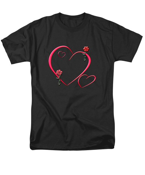 Hearts And Flowers Men's T-Shirt  (Regular Fit) by Judy Hall-Folde