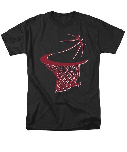 Heat Basketball Hoop Men's T-Shirt  (Regular Fit) by Joe Hamilton