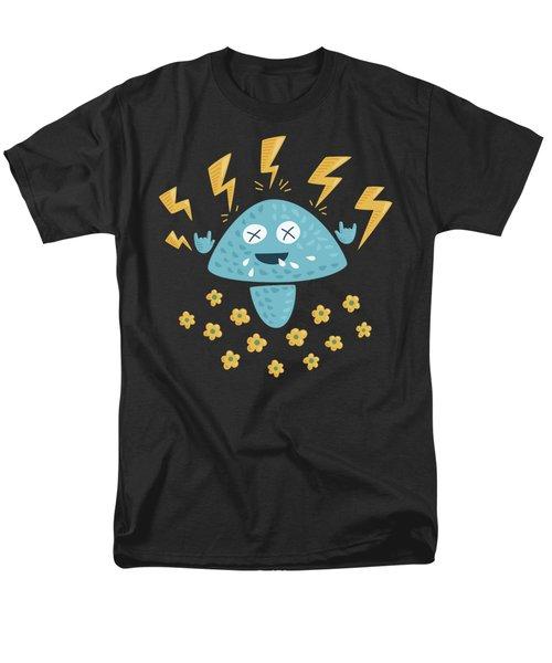 Heavy Metal Mushroom Men's T-Shirt  (Regular Fit) by Boriana Giormova