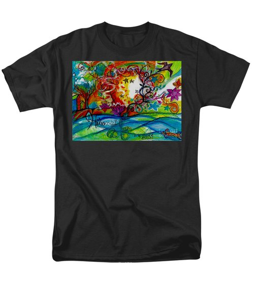 Men's T-Shirt  (Regular Fit) featuring the painting Helios And Ophelia  by Genevieve Esson