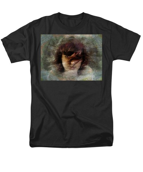 Men's T-Shirt  (Regular Fit) featuring the digital art Her Dark Story by Gun Legler
