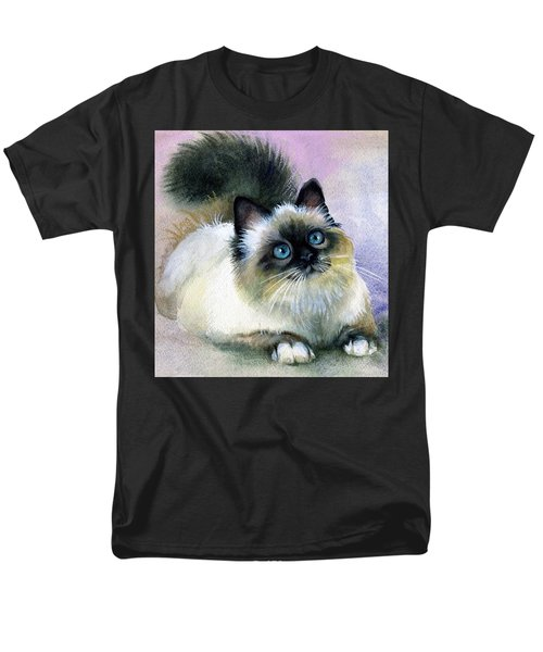 Men's T-Shirt  (Regular Fit) featuring the painting Here Kitty by Karen Showell