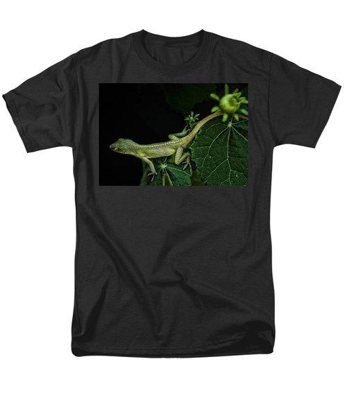 Men's T-Shirt  (Regular Fit) featuring the mixed media Here Lizard Lizard by Kim Henderson