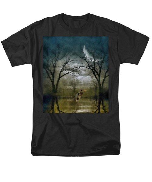 Heron By Moon Glow  Men's T-Shirt  (Regular Fit) by Andrea Kollo