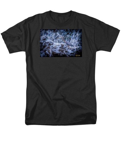 Men's T-Shirt  (Regular Fit) featuring the photograph Heron Falls by Rikk Flohr