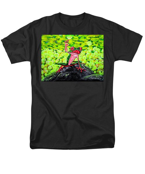 Men's T-Shirt  (Regular Fit) featuring the painting Hey  People by Viktor Lazarev