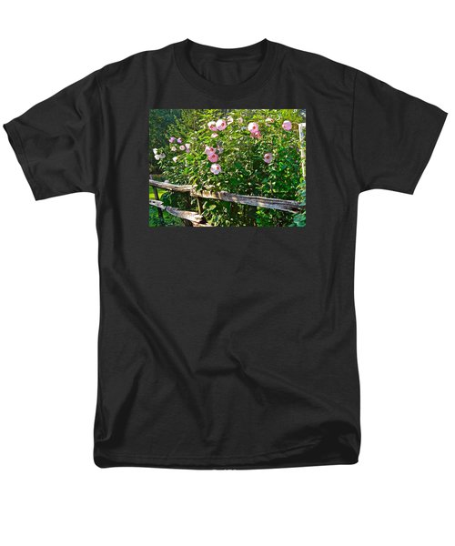 Men's T-Shirt  (Regular Fit) featuring the photograph Hibiscus Hedge by Randy Rosenberger