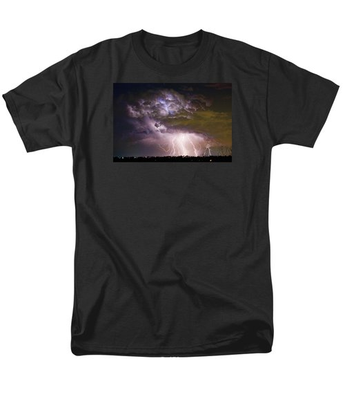 Highway 52 Storm Cell - Two And Half Minutes Lightning Strikes Men's T-Shirt  (Regular Fit)