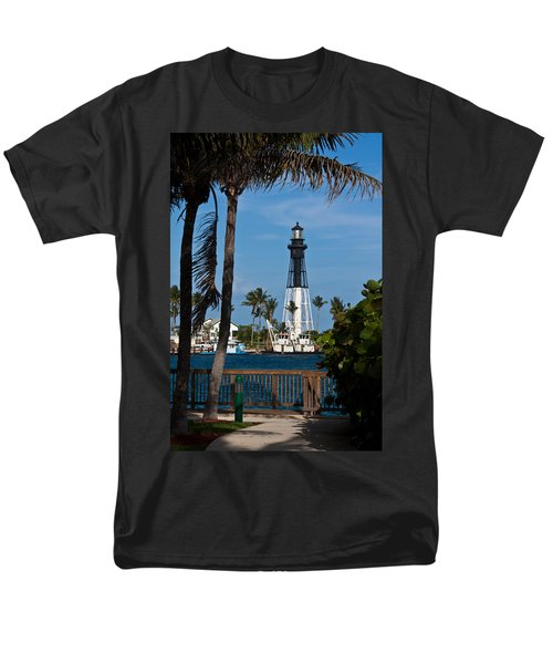 Hillsboro Inlet Lighthouse And Park Men's T-Shirt  (Regular Fit) by Ed Gleichman