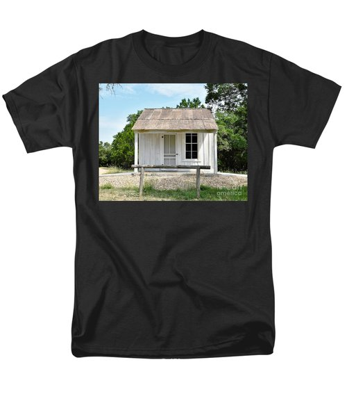 Men's T-Shirt  (Regular Fit) featuring the photograph Historic Clint's Cabin by Ray Shrewsberry