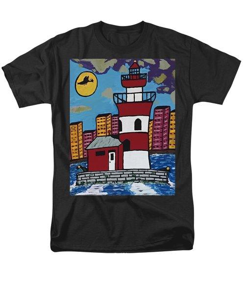 Historical Michigan Lighthouse Men's T-Shirt  (Regular Fit) by Jonathon Hansen