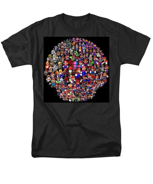 History Of Mario Mosaic Men's T-Shirt  (Regular Fit) by Paul Van Scott