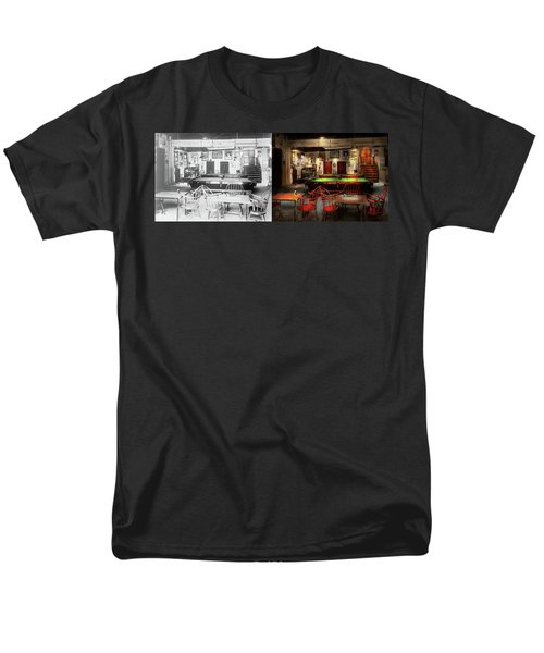 Men's T-Shirt  (Regular Fit) featuring the photograph Hobby - Pool - The Billiards Club 1915 - Side By Side by Mike Savad
