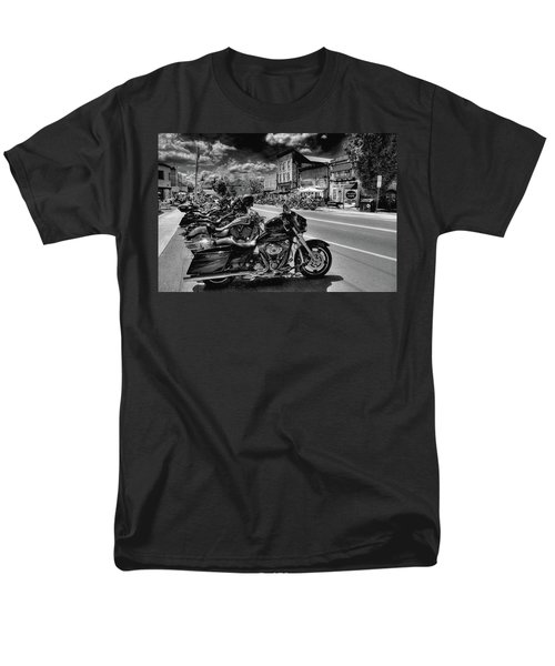 Hogs On Main Street Men's T-Shirt  (Regular Fit) by David Patterson