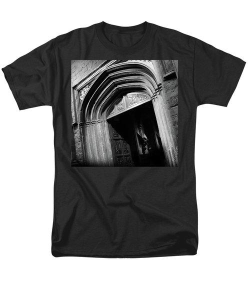 Men's T-Shirt  (Regular Fit) featuring the mixed media Hogwards Door  by Gina Dsgn