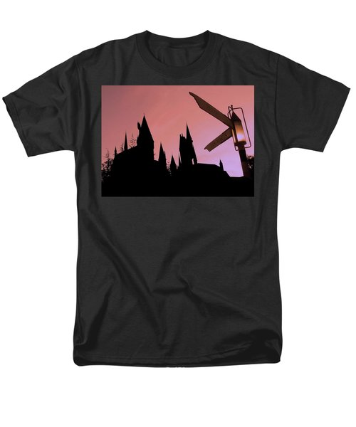 Men's T-Shirt  (Regular Fit) featuring the photograph Hogwarts Castle ... by Juergen Weiss