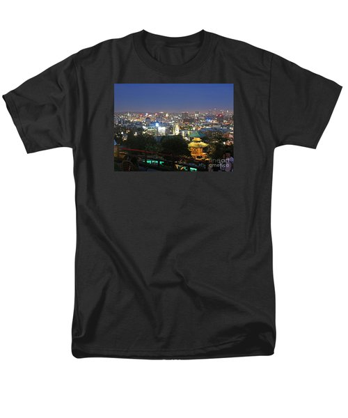 Men's T-Shirt  (Regular Fit) featuring the photograph Hollywood Hills After Dark by Cheryl Del Toro