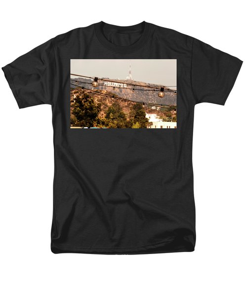 Men's T-Shirt  (Regular Fit) featuring the photograph Hollywood Sign On The Hill 3 by Micah May