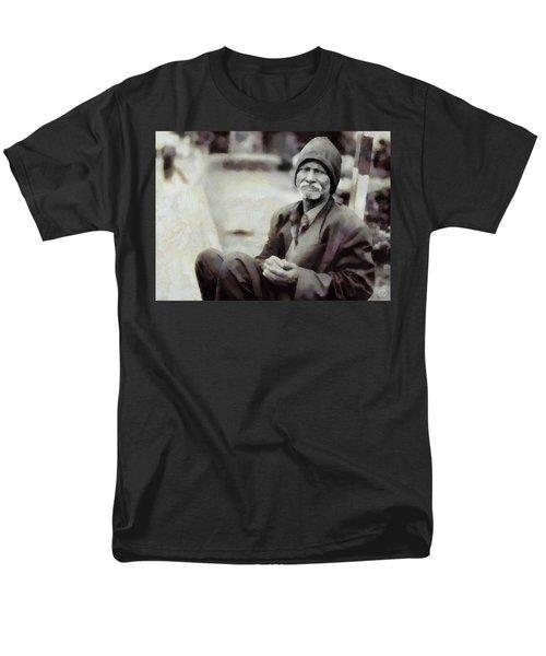 Men's T-Shirt  (Regular Fit) featuring the digital art Homeless II by Gun Legler