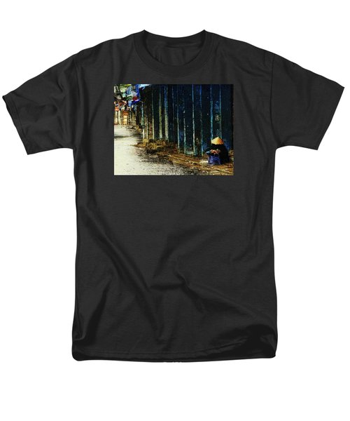 Men's T-Shirt  (Regular Fit) featuring the digital art Homeless In Hanoi by Cameron Wood