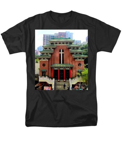 Men's T-Shirt  (Regular Fit) featuring the photograph Hong Kong Temple by Randall Weidner
